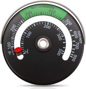 termómetro de chimenea